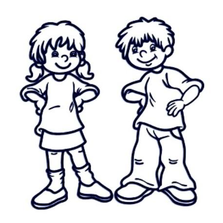 Samolepka na auto se jménem dítěte- sourozenci holka a kluk 6-12let