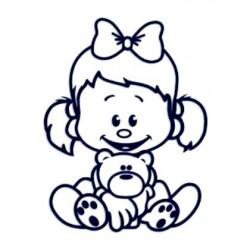 Samolepka na auto se jménem dítěte- holka 12