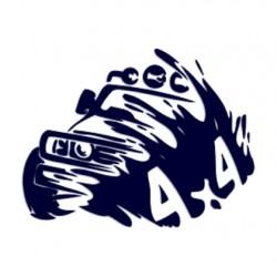 Samolepka na auto- off road - 4x4