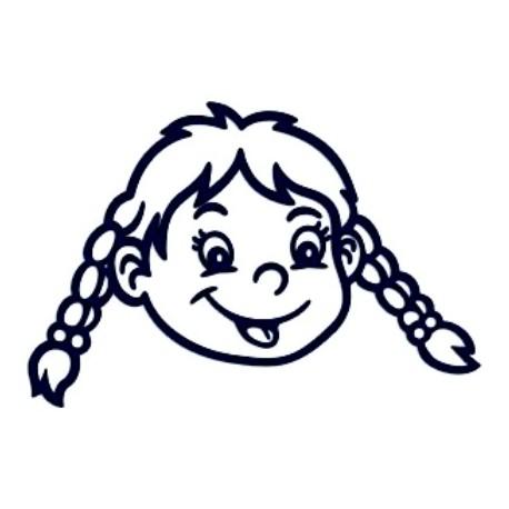 Samolepka na auto se jménem dítěte- holka 18
