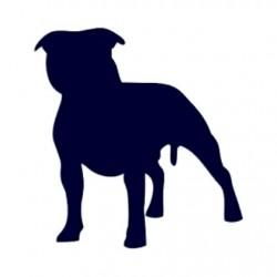 Samolepka na auto-pes v autě - Pitbull 01