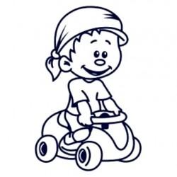 Samolepka na auto se jménem dítěte- kluk řidič