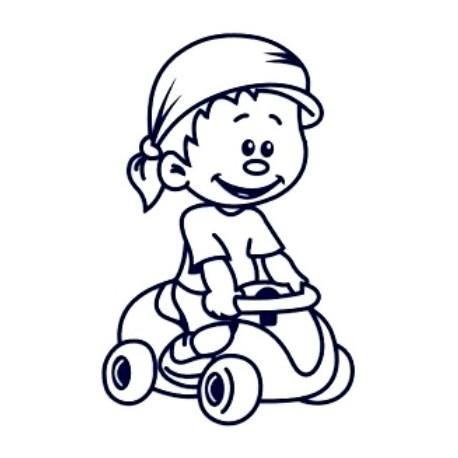 Samolepka na auto se jménem dítěte- kluk 20