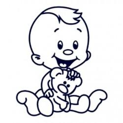 Samolepka na auto se jménem dítěte- kluk 19