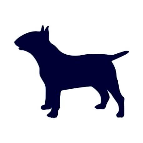 Samolepka na auto-pes v autě- pitbull