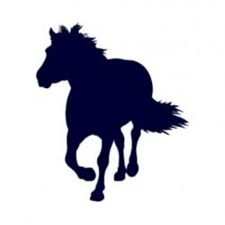Samolepka na auto- silueta koně 01