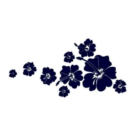 Samolepka na auto-květiny 01