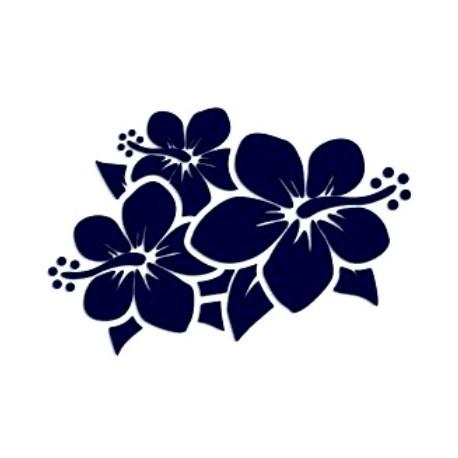 Samolepka na auto-květiny 05