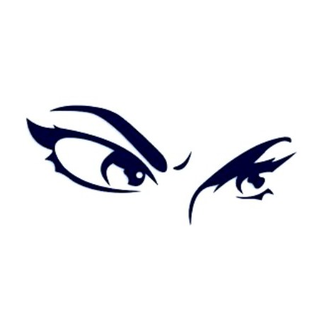 Samolepka na auto-ženské oči