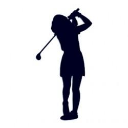 Golfistka- Samolepka na auto- Golf