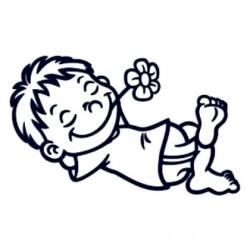 Samolepka na auto se jménem dítěte- kluk leháro