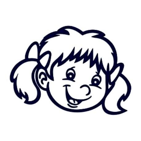 Samolepka na auto se jménem dítěte- holka 22