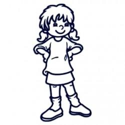 Samolepka na auto se jménem dítěte- holka 6 až 12let
