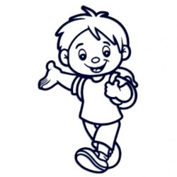 Samolepka na auto se jménem dítěte- kluk na výletě