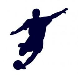 Samolepka na auto-fotbalový útočník