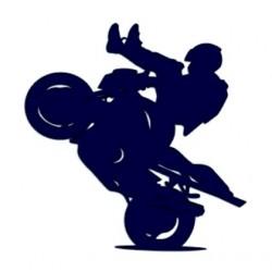 Samolepka na auto a motivem motorky