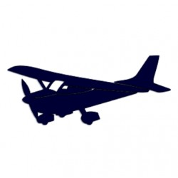 Samolepka na auto- letadlo- vyhlídkové lety