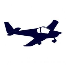 Samolepka na auto- letadlo- vyhlídkové lety 01