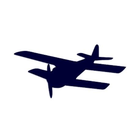 Samolepka na auto- letadlo- vyhlídkové lety 02