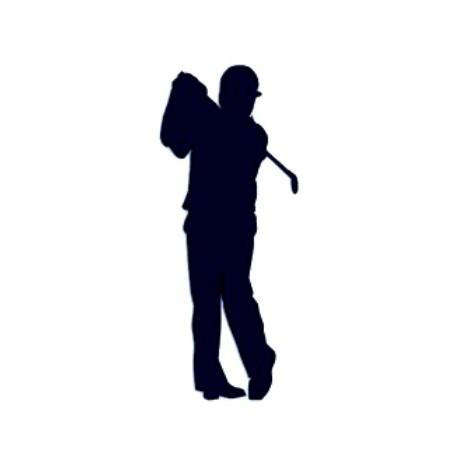 Samolepka na auto s motivem golfu- golfista