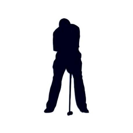 Samolepka na auto s motivem golfu- golfista 01