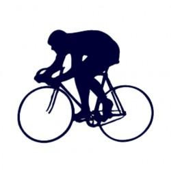 Samolepka na auto- silniční cyklistika- silniční kolo