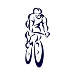 Samolepka na auto pro cyklisty- silniční cyklistika- silniční kolo 03