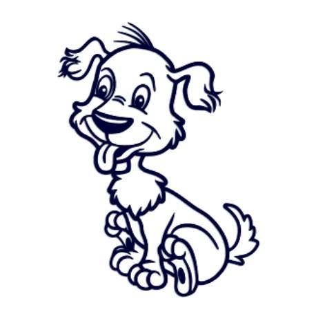 Samolepka na auto-pes v autě-hafík 01