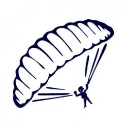 Samolepka na auto- paragliding 01