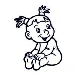 Samolepka na auto se jménem dítěte - holka 23