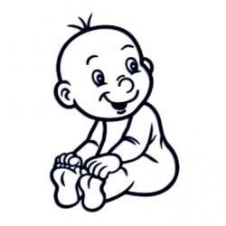 Samolepka na auto se jménem dítěte - kluk 22