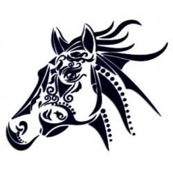 Samolepka na auto-hlava koně 02