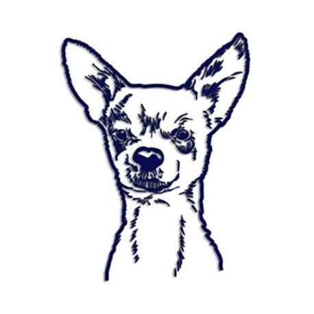 Samolepka na auto - pes v autě - portrét psa