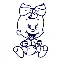 Samolepka dítě v autě - holka 24