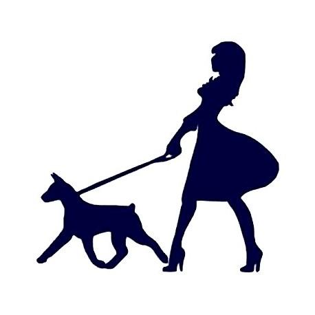 Samolepka na auto - dáma se psem