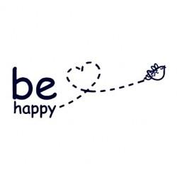 Samolepka na auto - Be happy