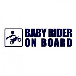 Samolepka na auto - Baby rider on board