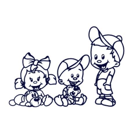Samolepka na auto se jménem dítěte- sourozenci- dva kluci a holka