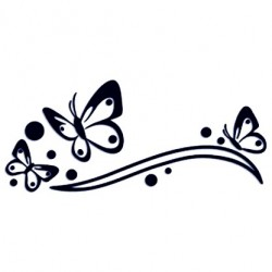 Samolepka na auto - motýli