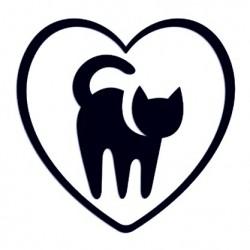 Samolepka na auto - kočka a srdce 01