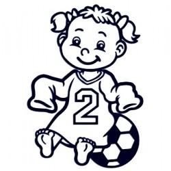Samolepka na auto se jménem dítěte - fotbalistka