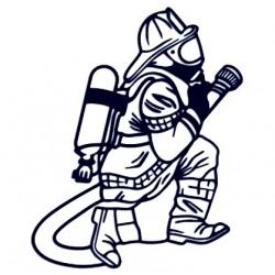 Samolepka na auto - hasič