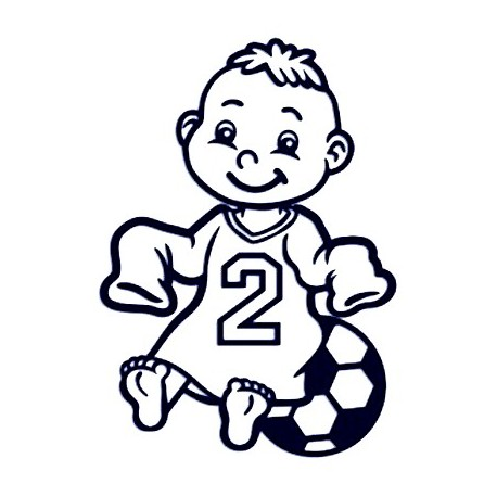 Samolepka na auto se jménem dítěte - fotbalista 02