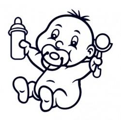 Samolepka na auto se jménem dítěte - mimino