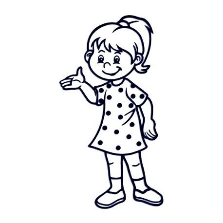 Samolepka na auto se jménem dítěte - malá slečna