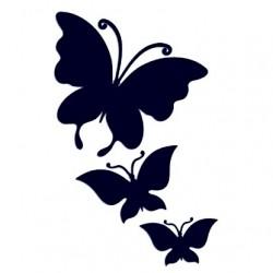 Samolepka na auto - motýli 01