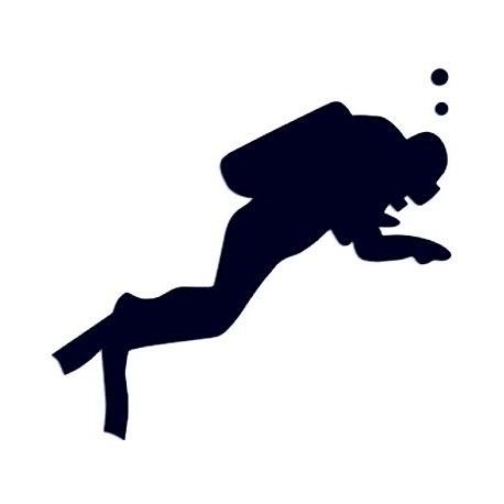 Samolepka na auto - potápění 01