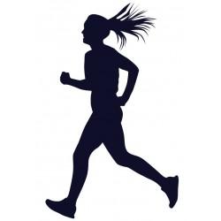 Běžkyně- Samolepka na auto s motivem běhání