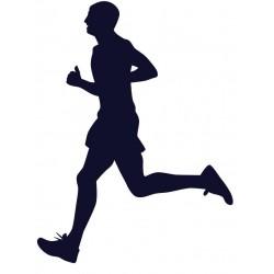Samolepka na auto s motivem běhání- běžec