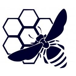 Samolepka na auto-včela na plástu + vlastní text
